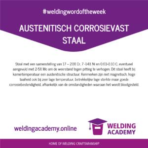 Austenitische Corrosievast Staal