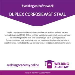 Duplex Corrosievast Staal