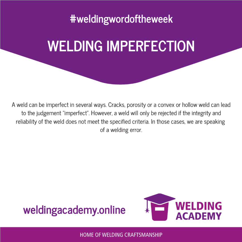 Welding imperfection