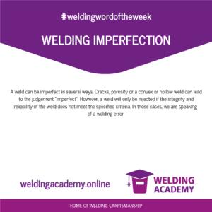 Welding imperfection